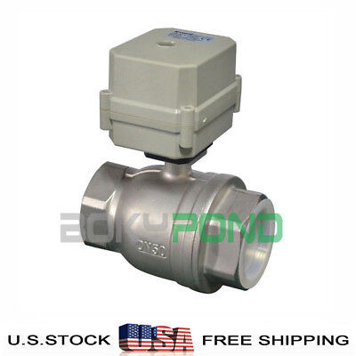 Npt 2 Motorized Valve Cr2-01dc 24v Stainless Steel Electrical Ball Valve