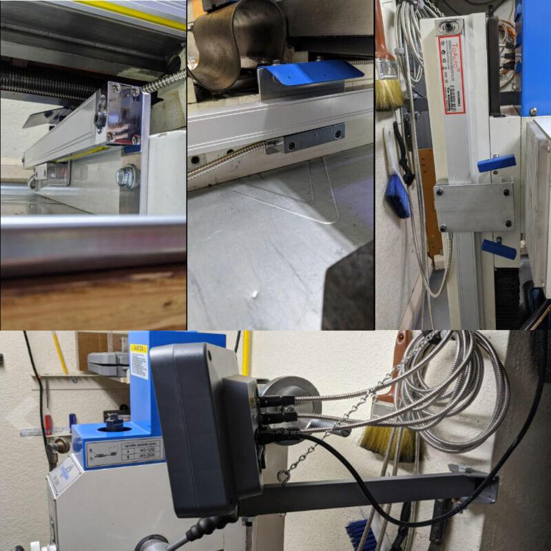 2/3/4/5Axis Digital Readout DRO TTL Glass Linear Scale Encoder CNC Milling Lathe