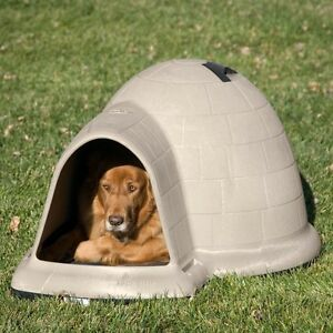 SOLD PP Igloo Dog House - Large - Tan Colour