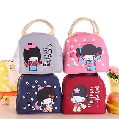 Japanese Bento Portable Insulation Lunch Boxes Thickening Lunch Bag Food Bag