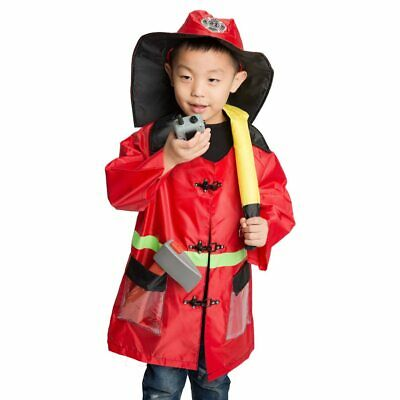 Firefighter Costume For Kids (Kids Child Fireman Firefighter Costume Cosplay Kindergarten Role Play for)