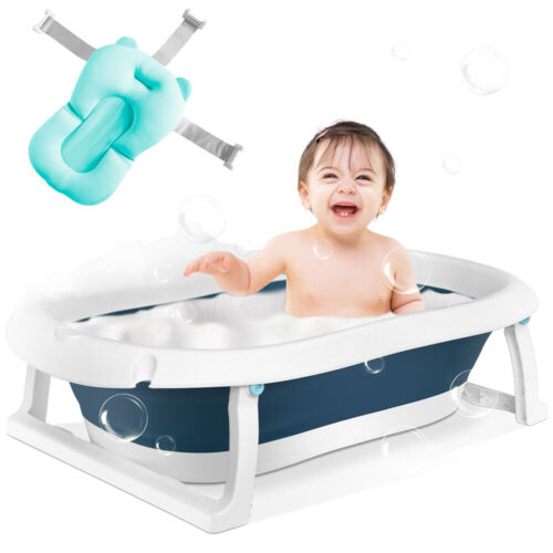 Baby Bath Tub, Foldable Infant Collapsible Toddler Bathing Support for 0-2Years