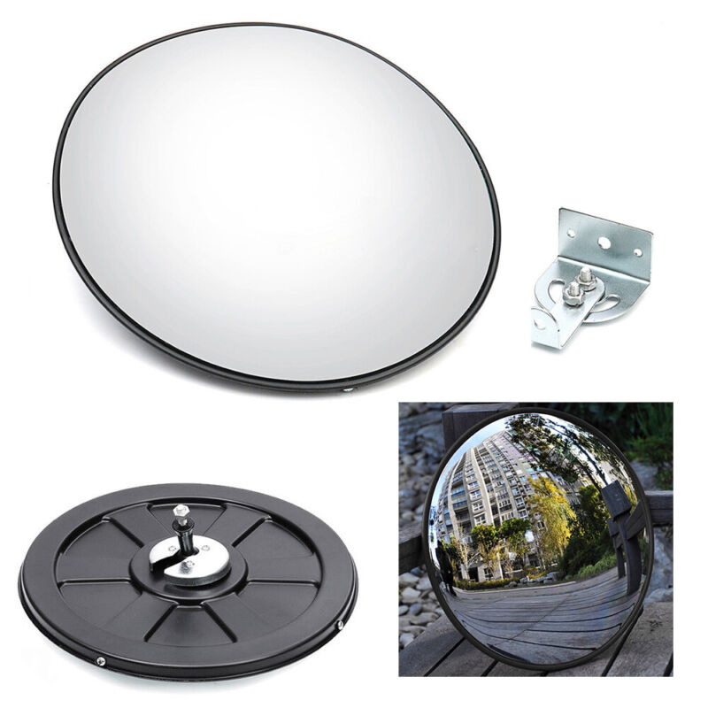"""12"""" Traffic Convex Mirror Driveway Road Safety Wide Angle Concave Spiegel"""