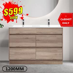 Bathroom Vanity 1200mm Timber Look Oak Drawer Cabinet KINGSLEY *NEW*