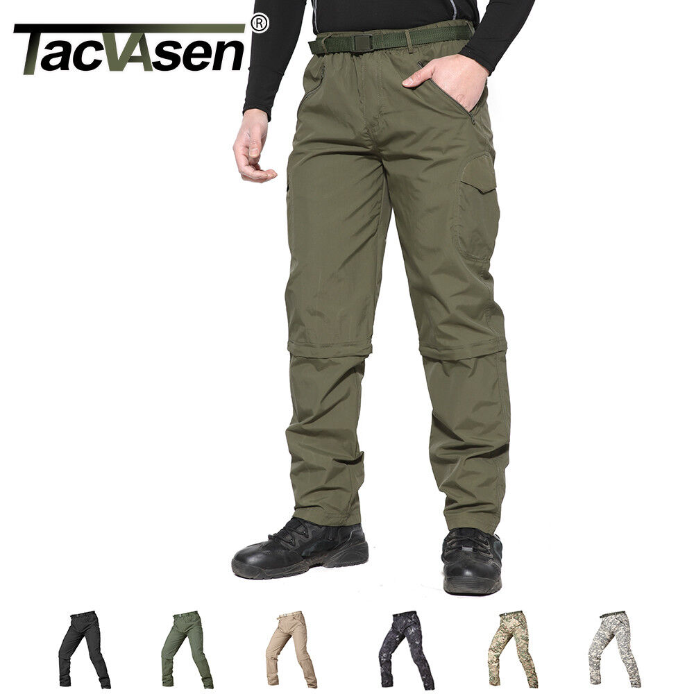 TACVASEN Mens Tactical Quick Drying Anti-Rip Pants Hiking Tr
