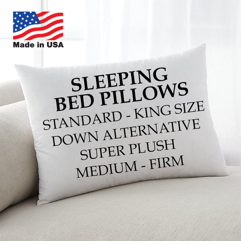 Down Alternative King Standard Queen Bed Pillows Hypoallerge