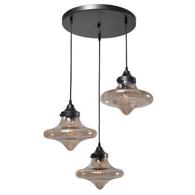 Kenroy Home Rain Drop 3 Light Bronze Pendant  93486Wbz