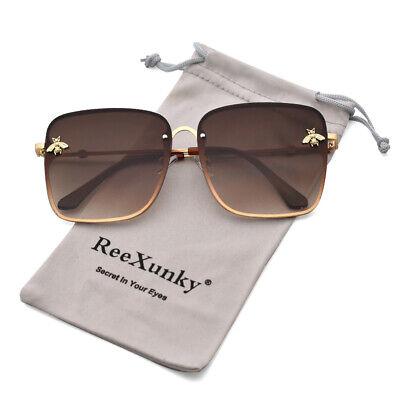 Best Square Designer Sunglasses For Women Fashion Gold Bee Shades Eyewear (Best Ladies Sunglasses)