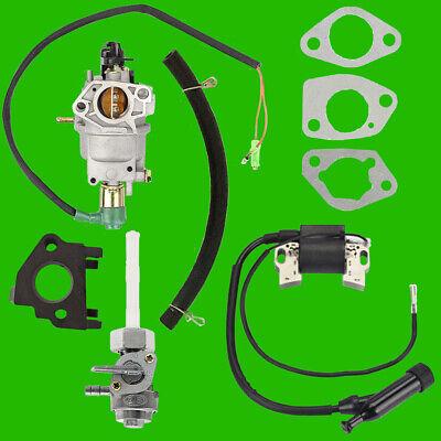 Champion Carburetor w/ Solenoid Petcock Ign Coil for 100155 6300 40043 9000 6900