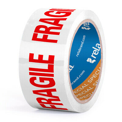 Rela Fragile Fragil Security Printed Packaging Tape 2 X 110 Yards 1 Roll