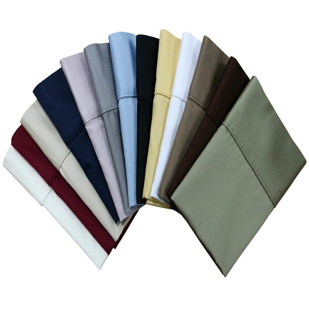 100% Microfiber  Pillowcases Collection Soft Solid 2PC Pillo