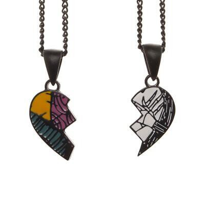 Nightmare Before Christmas His & Hers Necklaces in Coffin Box