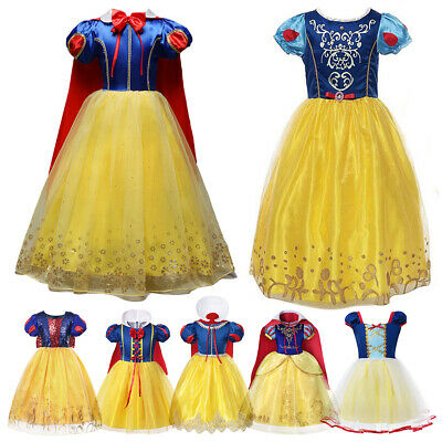 Holiday Dresses For Kids (Kids Snow White Princess Dress Up For Girl Cosplay Costumes Party Fancy)