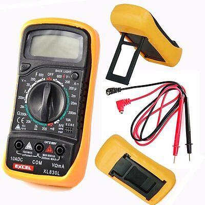 Digital Multimeter Messgerät Transistor Neuware incl. 9V Batterie Strommessgerät