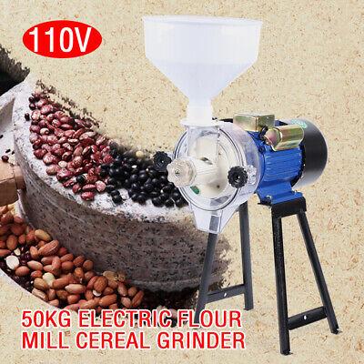 2200w Electric Grinder Wet Feedflour Mill Cereals Grain Corn Wheatfunnel Usa