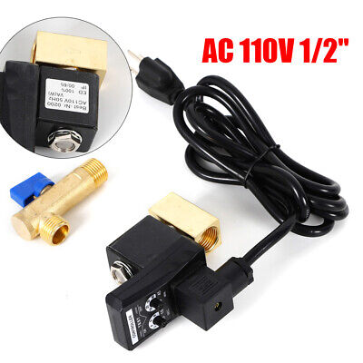 12 2way Electronic Timed Air Compressor Gas Tank Auto Drain Valve 110v