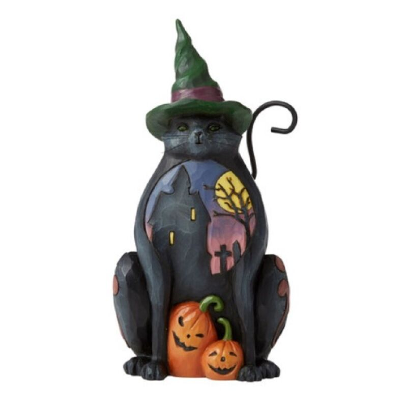 Jim Shore Heartwood Creek Halloween Cat Pint Sized Figurine 6006697