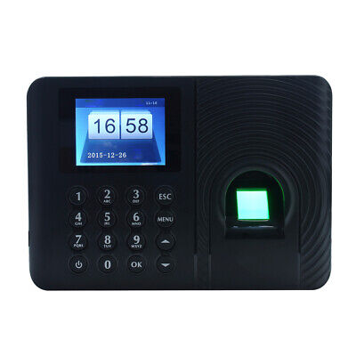 A3 2.4 Tft Biometric Fingerprint Attendance Time Clock Employee Recorder P7y0