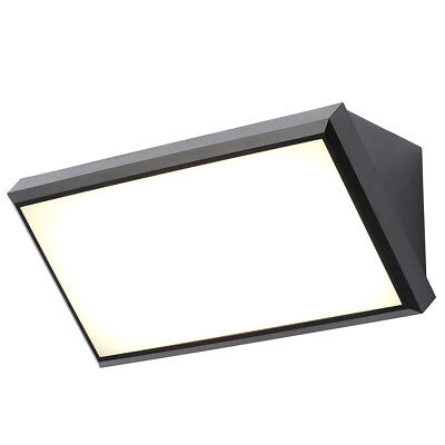 Belford LED Outdoor Wall Light Modern Garden Porch Patio Light Black Litecraft
