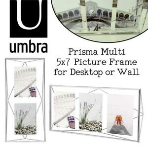 NEW Umbra Prisma Multi 5x7 Picture Frame for Desktop or Wall, Holds Three 5x7 Photos, Chrome Condtion: New, Multi, ...