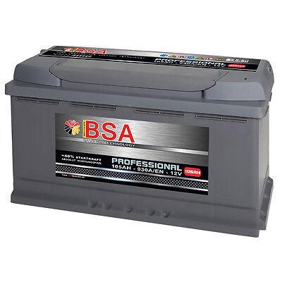BSA Autobatterie 105Ah 12V extrem Leistungsstark 930A/EN ersetzt 100Ah 100