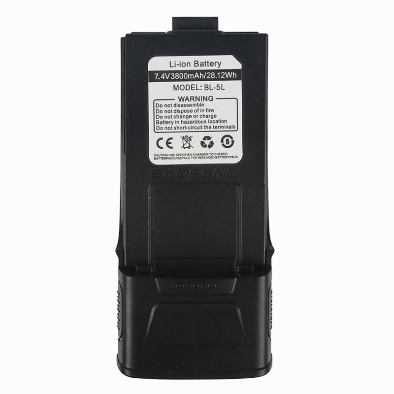 3800mAh Li-ion Extended Battery For Baofeng GT-3  GT-3TP Two-way Radio