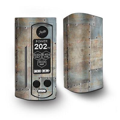 Skin Decal for Wismec Reuleaux RX Gen3 Dual Vape / Metal Panel aircraft rivets