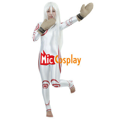 Deadman Wonderland Shiro Cosplay Costume Woman Halloween Uniform Outfit Bodysuit