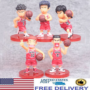 Basketball Slam Dunk Hanamichi Sakuragi Rukawa Kaede 5PCS Action Figure Doll Toy