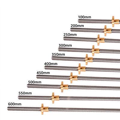 T8 Lead Screw Lead 8mm Trapezoidal Rod Acme Threaded Brass Nut For 3d Printer