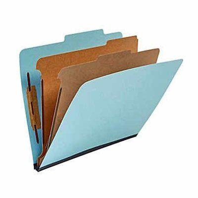 New Staples 25 Cut Tab 2 Partition Letter Size File Folders 20bx Blue 614616
