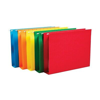 Staples Hanging File Folders 5-tab 2 Expansion Letter Sz Asst Colors 25bx