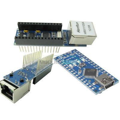 Nano V3.0 Atmega328 5v 16m Micro-controller Enc28j60 Ethernet Shield For Arduino