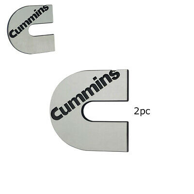 2pc Cummins Diesel Emblem Decal
