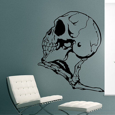 Wandtattoo Halloween Schädel Knochen skull Hand skelett 517