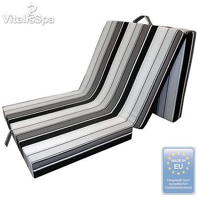 VitaliSpa® Colchón Plegable Cama Invitados Supletoria Viaje negro/blanco