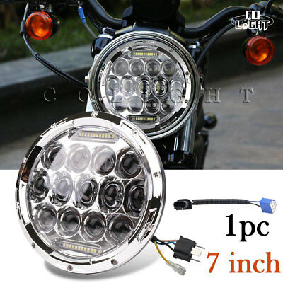 For Honda Shadow VT VT1100 VT750 VT600 VF750 Phillips LED Headlight Lamp Light