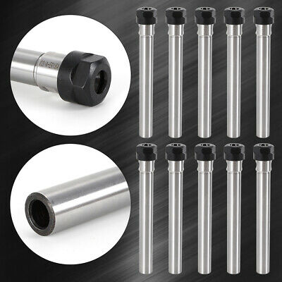 10pcs Er16 Collet Chuck Holder Cnc Milling Extension Straight Shank Usa Stock