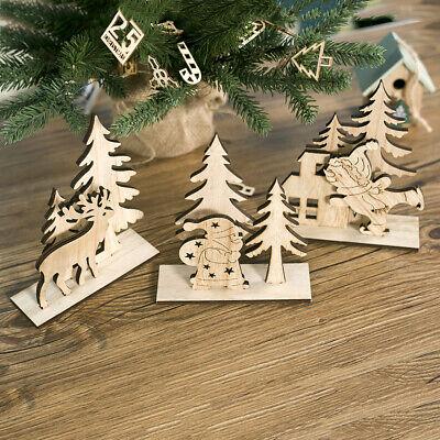 Christmas Decorations Wooden Natural Ornament Xmas Tree Hanging Pendant Ornament ()