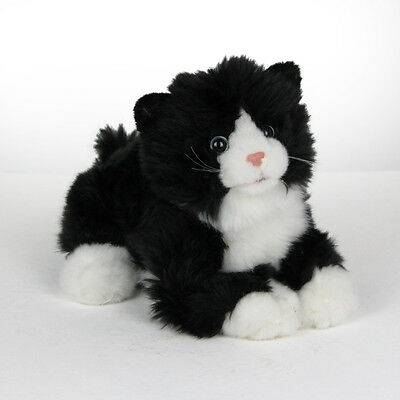 Stofftier Katze mit Stimme, Kätzchen, Kuscheltier, Plüschtier, (l ca. 30cm)