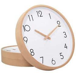 TXL Wall Clock Wood 12 Silent Large Clocks Digital Non Ticking for Night...