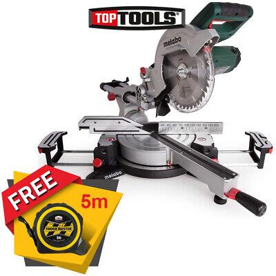 "Metabo KGS216M 216mm 8"" 1500w Laser Slide Compound Mitre Saw 240V + Free Tape 5M"
