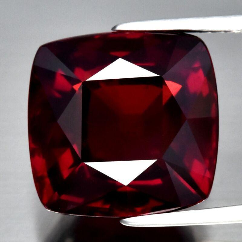 Big! 12.97ct VS Antique-Cut Natural Orangish Red Garnet Africa, Top Luster