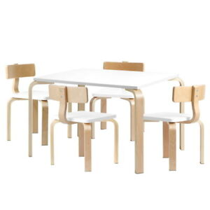 Artiss Kids Wooden Table and Chair Set Dining Study Desk Wooden