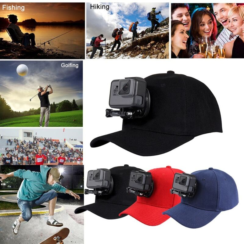 Baseball Cap for GoPro Action Cameras Holder Hat with J-Hook