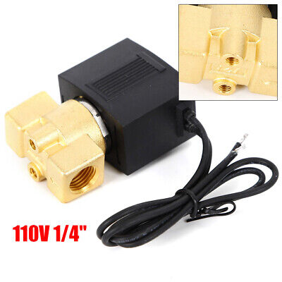14 Electric Solenoid Valve Water Oil Air Gas Welders 110120v Normally Closed