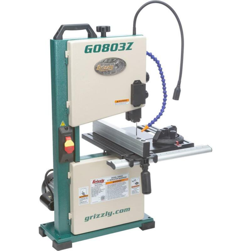 """Grizzly G0803Z 9"""" Benchtop Bandsaw with Laser Guide"""