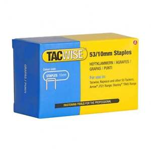 5000 Type 53 Series 10mm Staples Tacwise 0431 Fits Stanley, Arrow, Rapesco 53/10