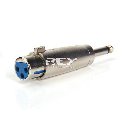 Adaptador Conector XLR 3 PIN Hembra para Micrófono Jack a 6,35 mm...