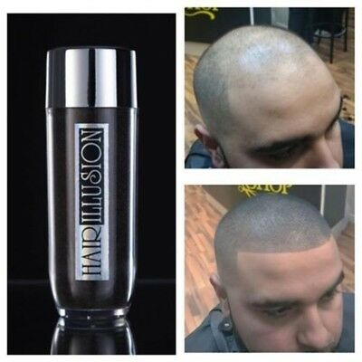 Hair illusion ~ Bald Spot Concealer - REAL HAIR FIBERS, for Barbers Large 38g